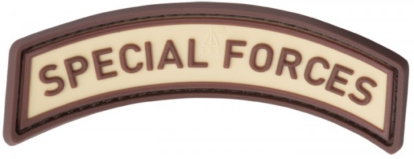 3D Rubber Patch Special Forces Tab Desert