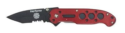 Mil-Tec Einhandmesser Firefighter Red
