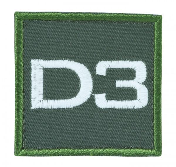 Truppkennzeichnung Oliv mit Klett D3