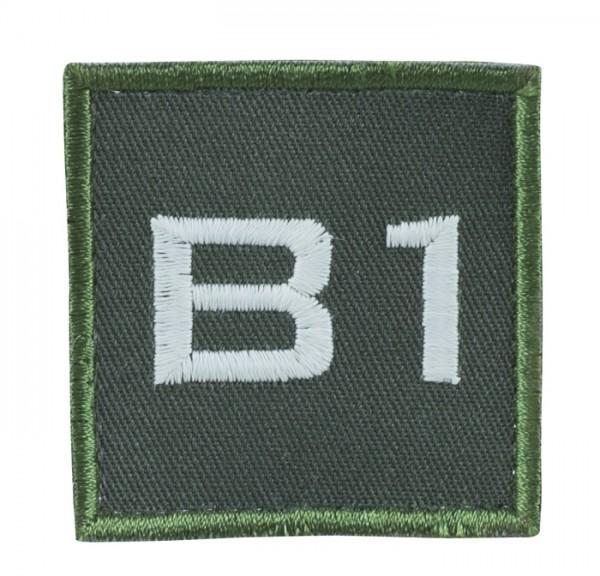 Truppkennzeichnung Oliv mit Klett B1