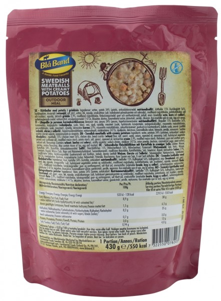 Bla Band Outdoor Meal Wet Pouch - Swedish Meatballs