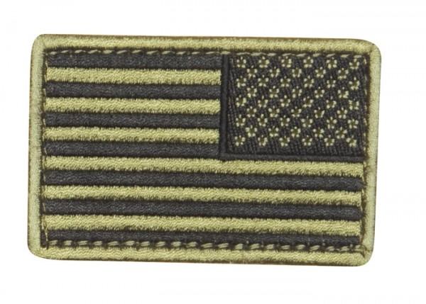 US Flagge Tan/Schwarz Textil/Klett - Reverse