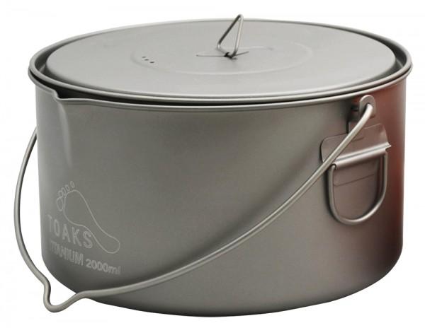 Toaks Titanium Pot 2000 ml mit Deckel und Henkel