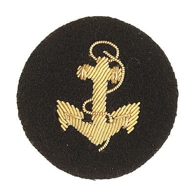 BW Marine Ärmelabzeichen Anker Handgestickt