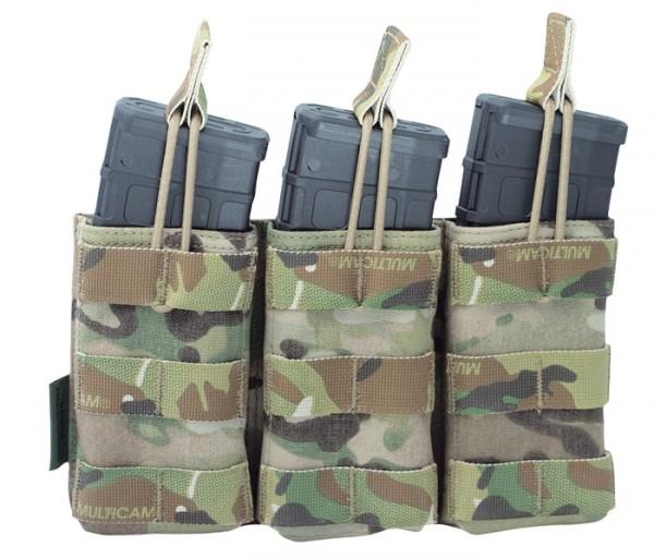 Warrior Triple Open Mag Pouch Multicam M4/AR15