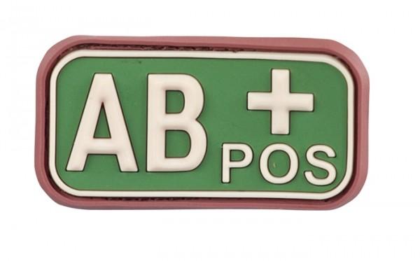3D Blutgruppenpatch Multicam AB pos +