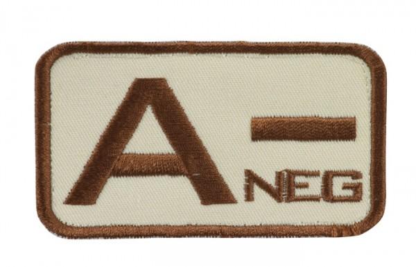 Blutgruppenkennzeichnung Sand/Braun A neg -