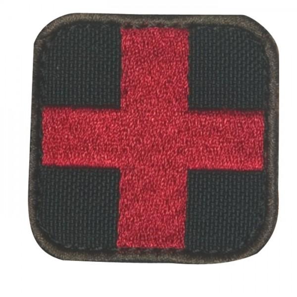 Medic Kreuz Schwarz/Rot mit Klett 6er Pack