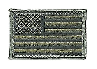 US Nationalitätsabz. Oliv Textil