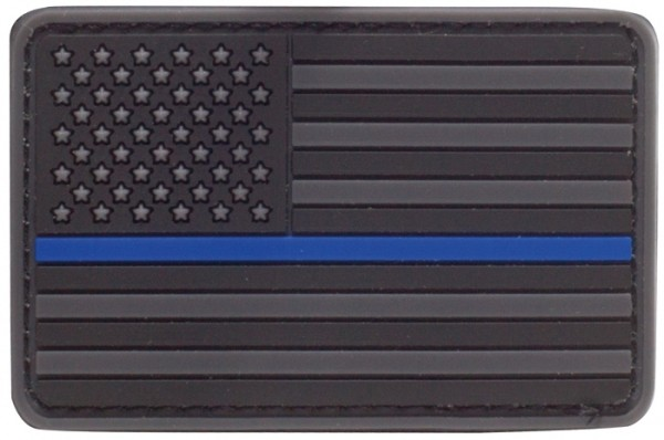 Rubber Patch US Flagge Thin Blue Line