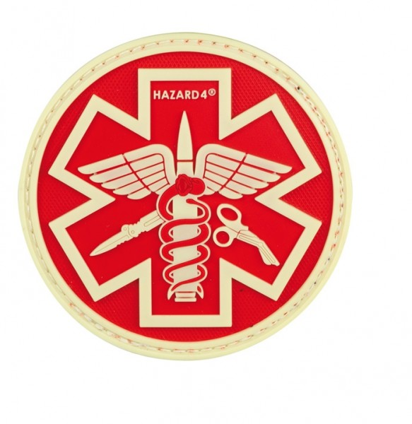 Hazard 4 Paramedic Patch Red Glow PAT-PMD-RED