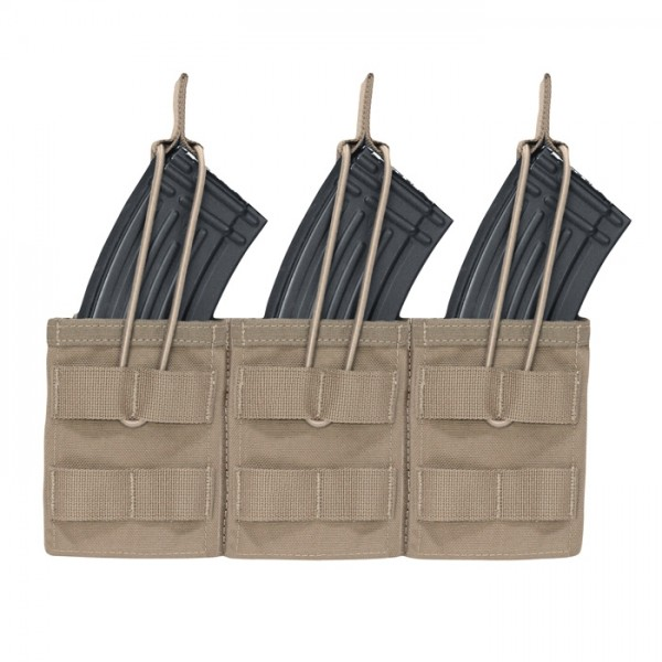 Warrior Triple Open Mag Pouch AK47/74 Coyote