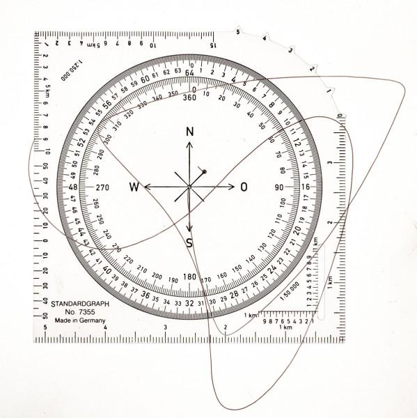 Standardgraph Kartenwinkelmesser