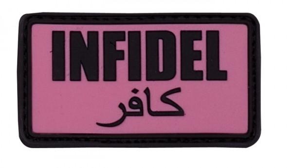 3D Rubber Patch Infidel pink/black