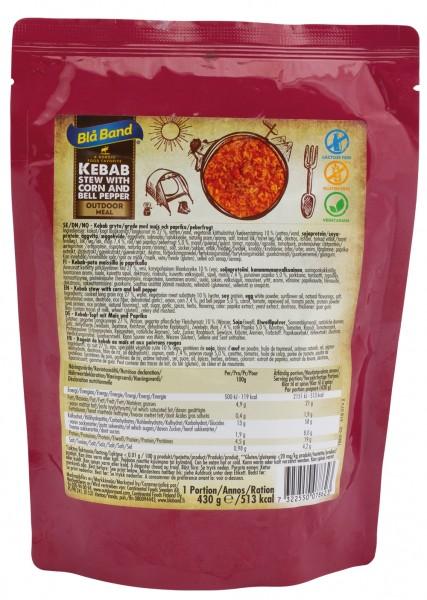 Bla Band Outdoor Meal Wet Pouch - Kebab Topf mit Mais und Paprika