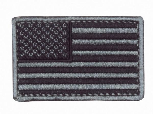 US Flagge Silber/Schwarz Textil/Klett