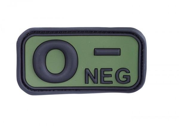 3D Blutgruppenpatch Oliv/Schwarz 0 neg -