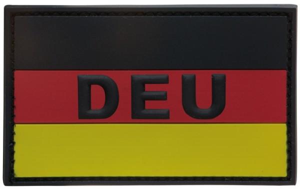 "3D Rubber Patch Deutschlandflagge ""DEU"" SRG Large"