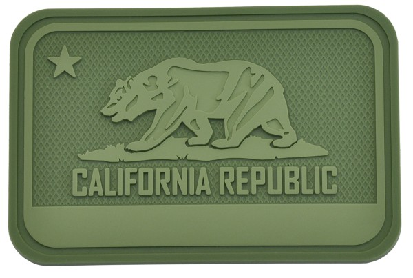 Hazard 4 Rubber Patch California Bear Flag