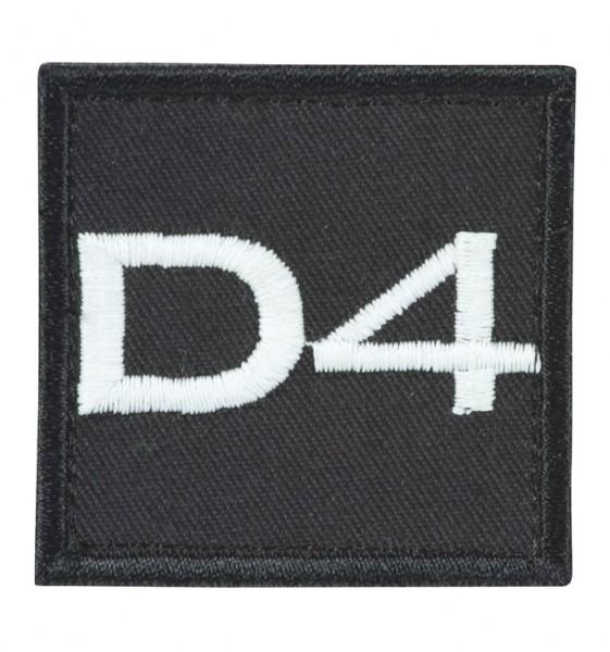 Truppkennzeichnung Schwarz mit Klett D4