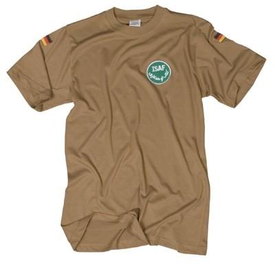 T-Shirt mit ISAF- und Nationalitätsabzeichen Sand