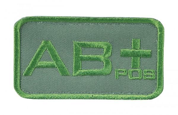 Blutgruppenkennzeichnung Oliv AB pos +