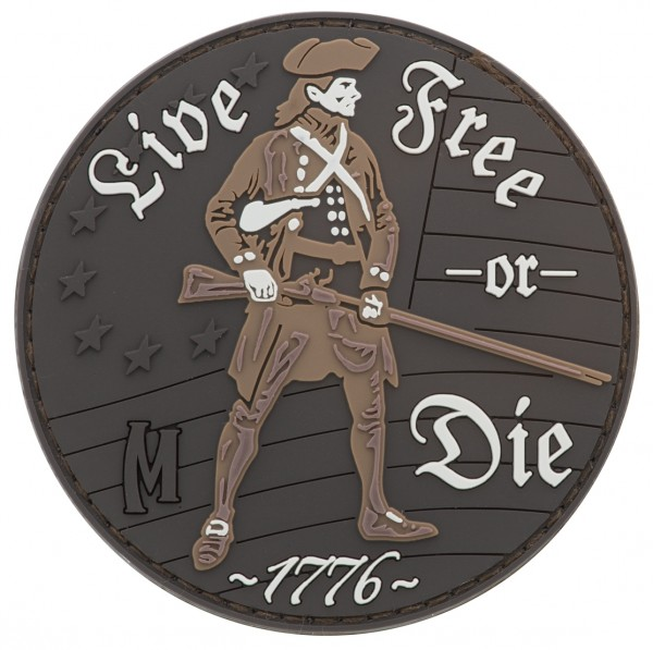 Maxpedition Rubber Patch LIVE FREE OR DIE Arid