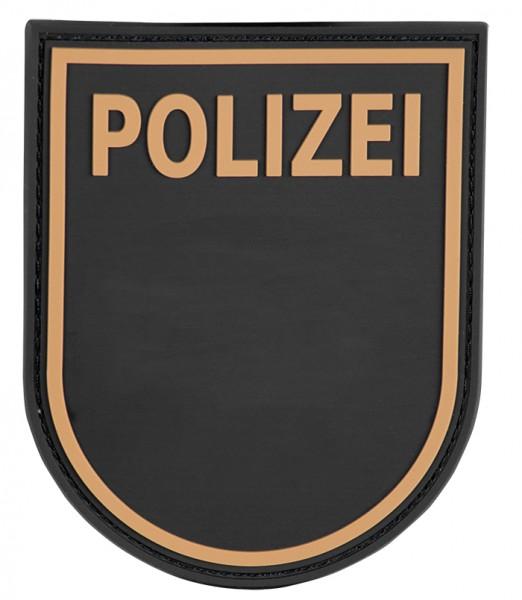 3D Ärmelabzeichen Polizei Bayern (Schwarz)