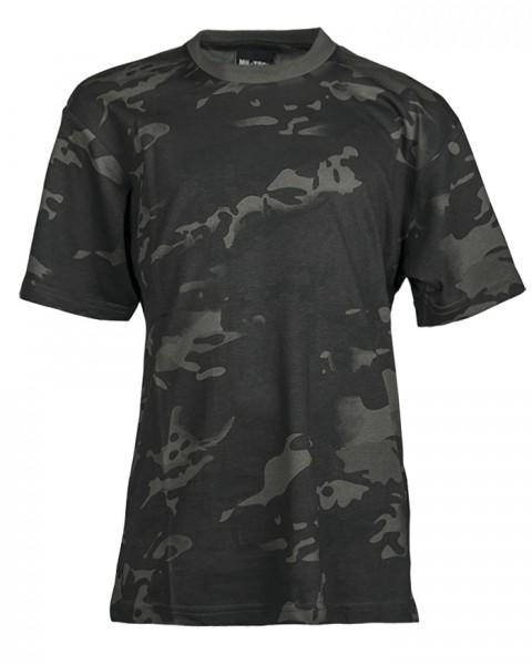 Mil-Tec T-Shirt Kids Multitarn Black