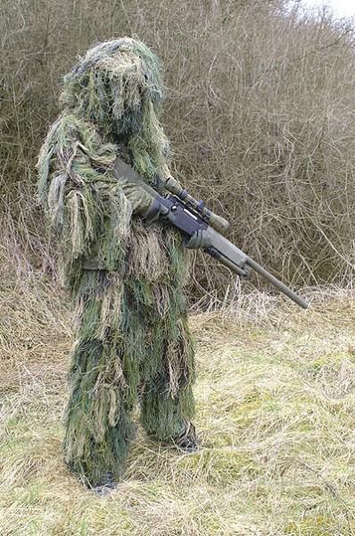Tarnanzug Ghillie Suit Sniper 2-tlg mit Fäden