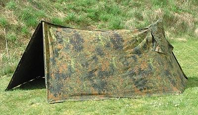 Bundeswehr Zeltplane Flecktarn Gebraucht