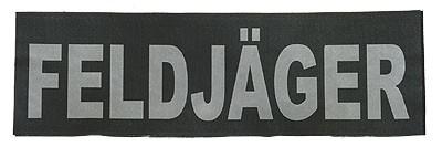 Reflektierender Schriftzug Groß Feldjäger