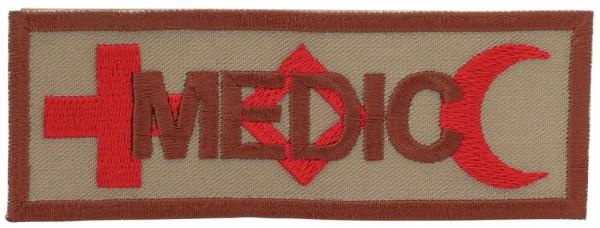 Medic Symbole International Sand/Rot auf Klett