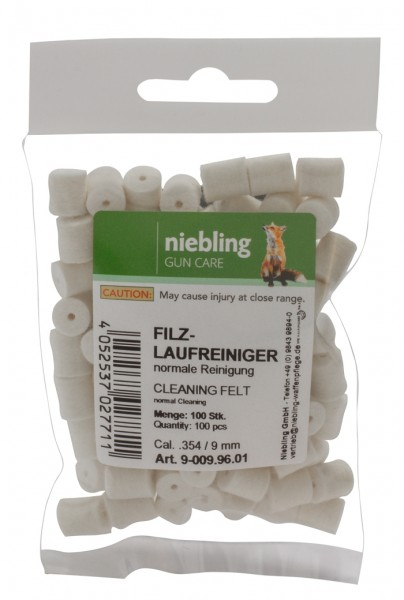 Niebling Filz Laufreiniger Normal (9mm) 100 Stück