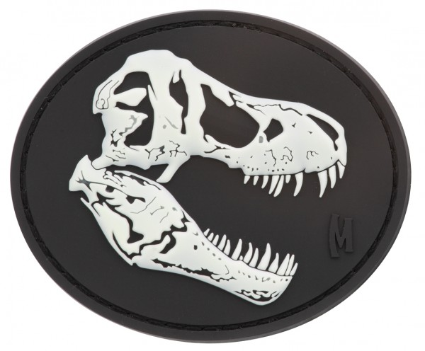 Maxpedition Rubber Patch T-REX SKULL Glow