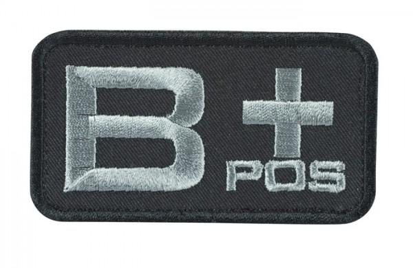 Blutgruppenkennzeichnung Schwarz/Grau B pos +