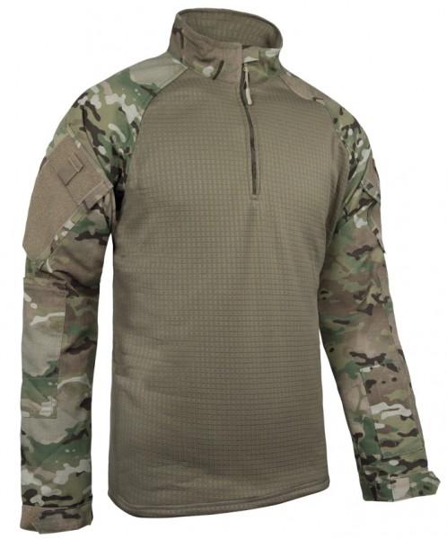 TRU-SPEC Combat Shirt Cold Weather 1/4 Zip Multicam