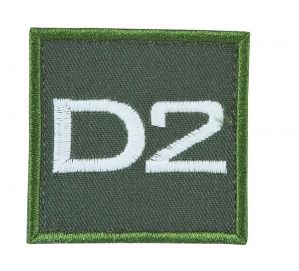 Truppkennzeichnung Oliv mit Klett D2