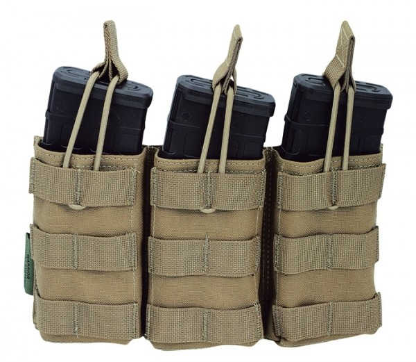 Warrior Triple Open Mag Pouch Coyote M4/AR15