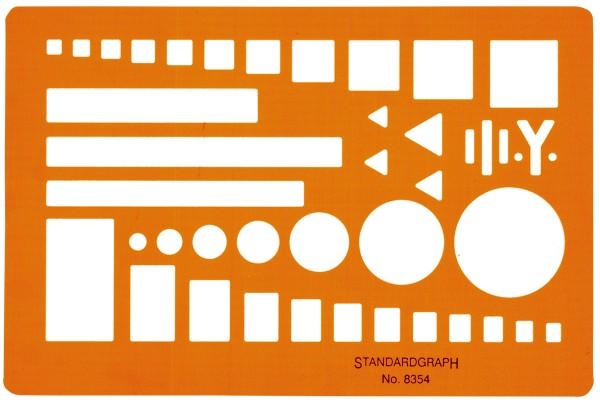 Standardgraph Truppenzeichenschablone