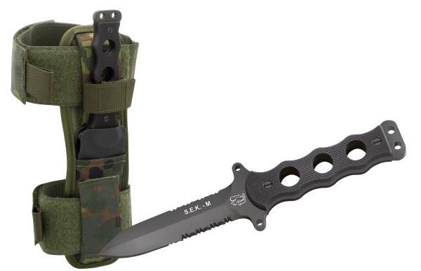 Eickhorn Kampfmesser S.E.K. M1 Flecktarn Scheide