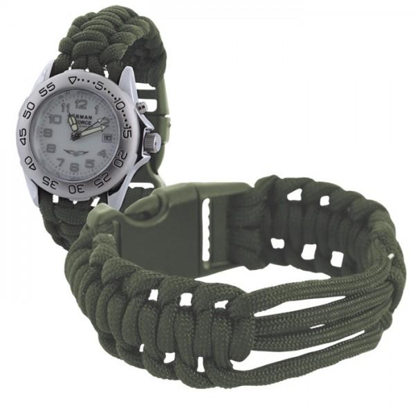 Parachute Cord Uhrenarmband Oliv