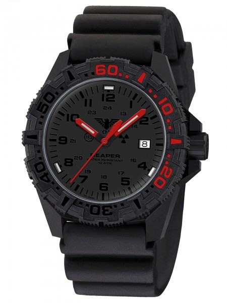 KHS Reaper MKII LT RED Red Halo Armbanduhr Diver