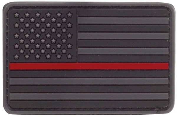 Rubber Patch US Flagge Thin Red Line
