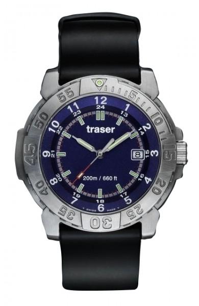 Traser H3 Uhr Super Sport Diver Blue Dial Datum