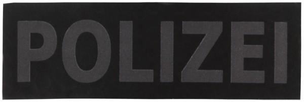 Schriftzug Polizei Schwarz/Grau Infrarot 7,5 x 2,5 cm