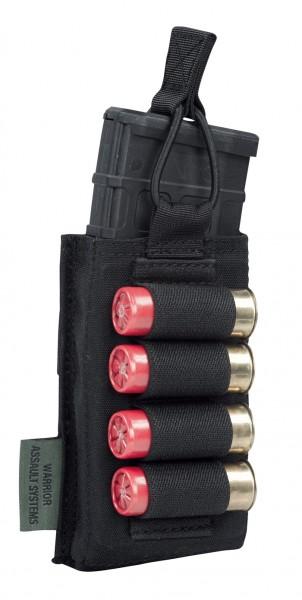 Warrior Single M4 & Shoot Gun Mag Pouch Black