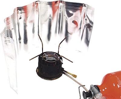 Alu Windschutz für Kocher 18x50 cm
