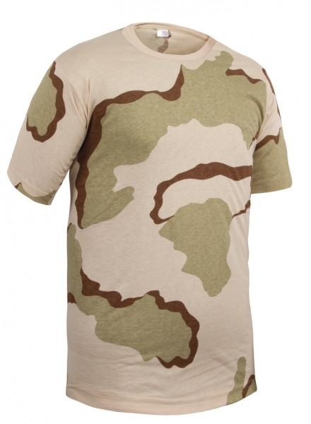 US T-Shirt 3-Farben Desert