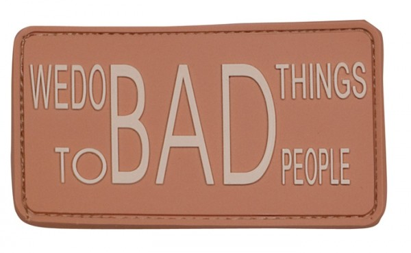 3D Rubber Patch Do Bad Things desert
